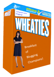 Wheaties for Bloggers courtesy of officialpsds[dot]com